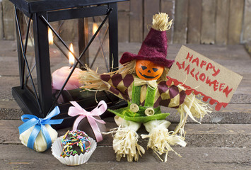 Halloween doll with banner