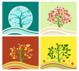 Four Seasons Tree - Illustration