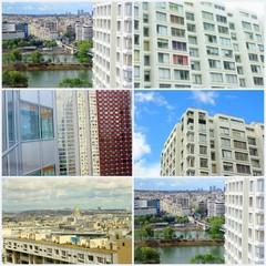 montage urbain de paris