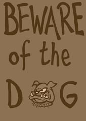 Beware of the dog vintage