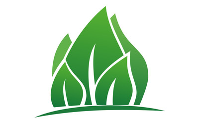 leaf & tree logo icon