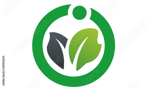 health & vegetable logo icon