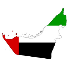 United Arab Emirates flag icon map