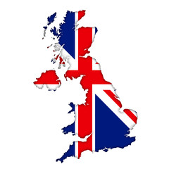 British flag map icon