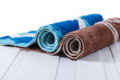 rolled up of colorful carpets.. - 65926760