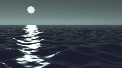 Mond Meer Nacht Wellen Ozean Sterne Wasser