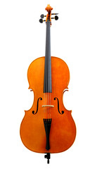 Violoncello isolated on white