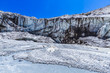 The Gaumukh glacier - source of the Ganges river in India.