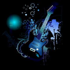 Electro blue guitar