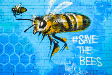 Graffiti art, save the bees design