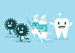 Toothpaste protect teeth from germ. vector illustration