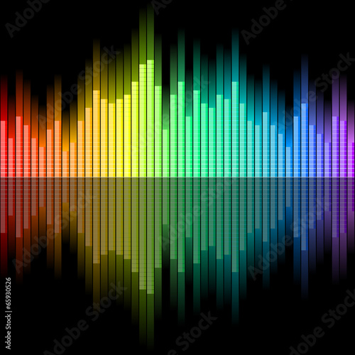 Equalizer with spectral colours
