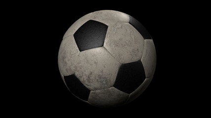 Looped Old Soccer Ball