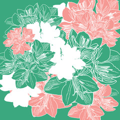 pattern floral vector, EPS 10