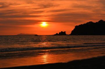 Summer Beach by Sunset