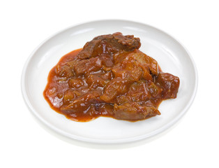 Braised Beef In Gravy Side View