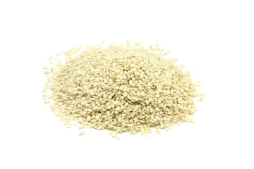 a little sesame seeds on a white background