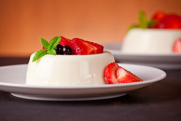 Panna Cotta And Red Fruits