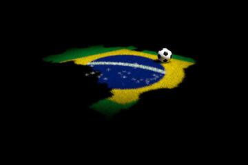 pallone classico su erba forma di brasile