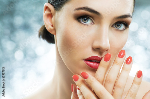 Poster, Tablou colorful manicure