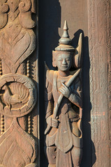 Little statuette. Shwe Inbin Abbey. Mandalay. Myanmar