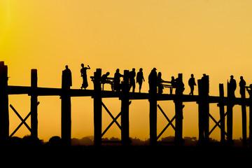 U Bein bridge. Mandalay. Myanmar.