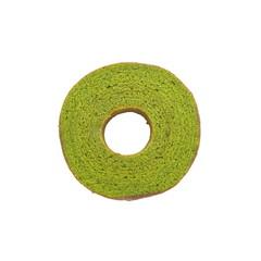 Maccha green tea baum cake on white