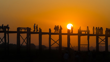 U Bein bridge. Mandalay. Myanmar.