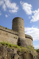 Medieval castle. Fougeres, France