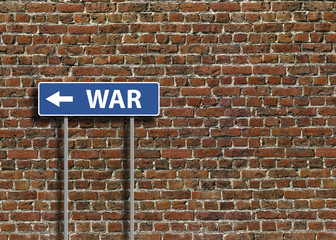 panneau war mur briques conflit kazy