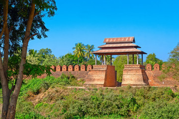 Old city walls. Inwa (Ava). Myanmar