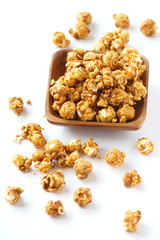 unhealthy popcorn snacks on a white