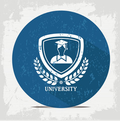 Student badge symbol,vector
