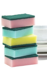 Kitchen utensil of colorful sponge for washing dish