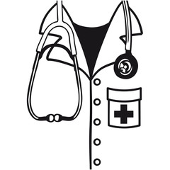 Arzt Kittel Hemd Verkleidung Stethoskop