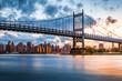 Leinwandbild Motiv Robert F. Kennedy Bridge at sunset