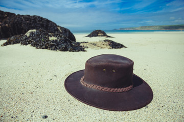 Cowboy hat on the beach