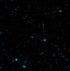 Stars on a dark background