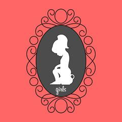 значок на дверь в туалет для девочек