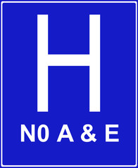Hospital ahead without accident and emergency facilities