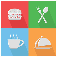 Food and drink icons,vector