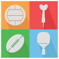 Sport flat icons,vector