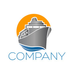 логотип пароход