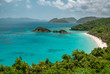 A shot of the famous Trunk Bay and the snorkeling trail.