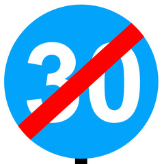 End of minimum speed limit traffic sign