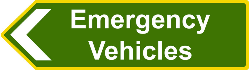 Emergency vehicles sign