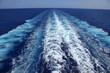 canvas print picture - Kondenzstreifen im Meer