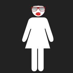 logo femme soirée