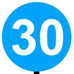 Minimum speed limit traffic sign