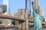 Brooklyn Bridge and The Statue of Liberty